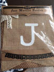 Wedding Bunting ( Brand new & still in packaging)