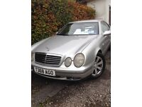 Mercedes 320 clk coupe in very clean condition runs and drives like a dream starts first time.