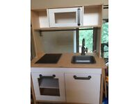 Children's wooden ikea play kitchen