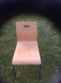 43 birch dining/cafe chairs. £6 each