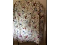 Pair of lined cotton curtains