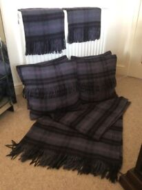 Wool cushions & blanket