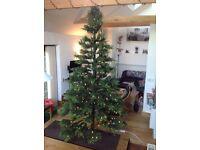 Christmas Tree, 3 metre tall, beautiful pre lit multifunction white led lights, unused,