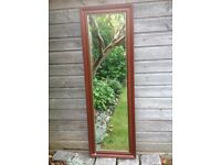 Solid wood full length hall mirror