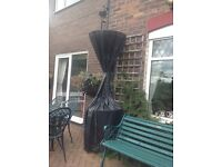 OUTBACK PATIO HEATER WITH PROTECTIVE COVER AND GAS BOTTLE