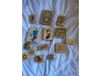 Selection Of 14 Assorted Occasion Quality Stamps For Card Craft.