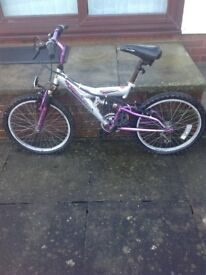 Childs Probike Storm Cloud bike. Approx 18inch wheels