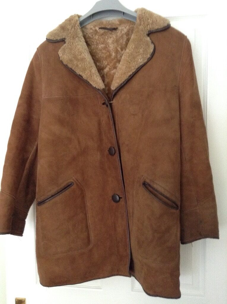 LADIES SHEEPSKIN COAT SIZE 16 34&quot LONG GOOD USED CONDITION | in