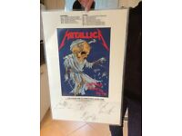 Metallica Signed Tour Laminate