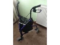 Aidapt 3 Wheel lightweight walking frame