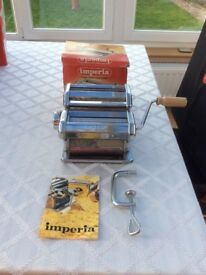 Imperia pasta machine with instructions and receipt booklet