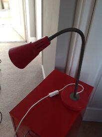 Ikea Kvart Red Work Lamp