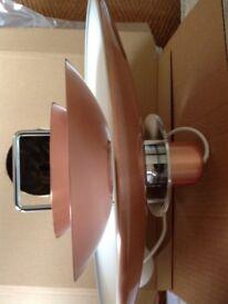 John Lewis Belid Felix Copper rise & fall ceiling light/pendant. BNIB. retails £195 accept £125