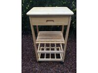 Butchers block / wood trolley - kitchen storage wine rack etc