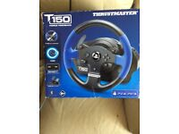 PS4 plus PS3 T150 Force feedback Steering wheel and pedals