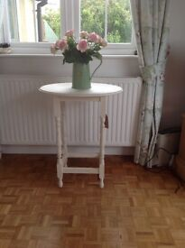 Oval topped side table