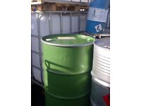 STEEL DRUM/BARREL/CONTAINER/PLANTER /METAL/FEED/BIN BBQ WITH REMOVABLE LID & CLAMP