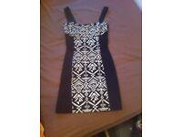 Size 8 H&M Black and White Bodycon Dress