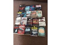 Job lot crime thriller books, bundle