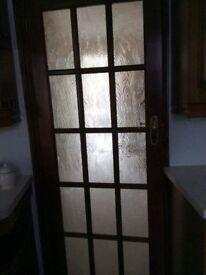 Hardwood interior door
