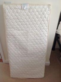 John Lewis cot mattress and bedding bundle
