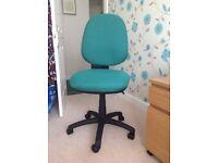 Aqua (green) office operator / computer chair, no arms