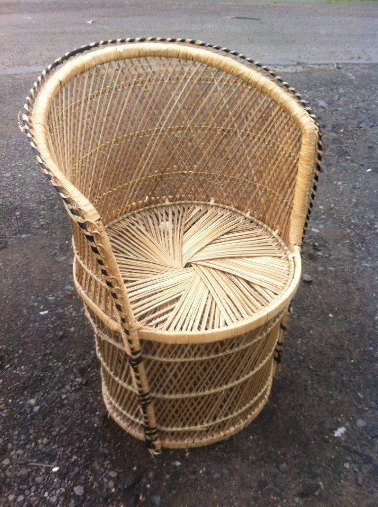 Round wicker tub chair of an early 1980s era | in Bonnybridge ...