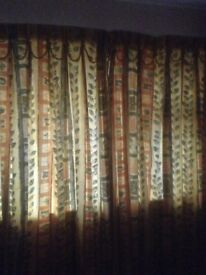 Bespoke floor length curtains