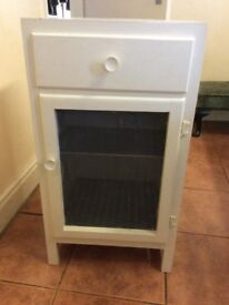Vintage meat safe and milking stool