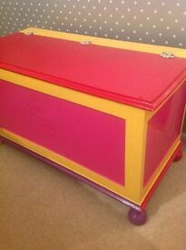 Brightly painted Blanket Box