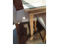 Marks & Spencer Dining Chairs with Lloyd Loom of Spalding Dining Table