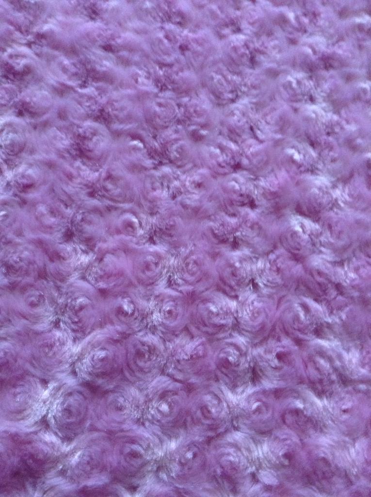 Pink rose bud throw