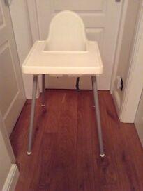 Plastic ikea high Chair