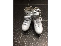 SFR kids ice skates white size UK 13