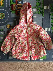 Tu rain jacket size 12-18 months