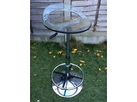 Chrome and Perspex Bar stool