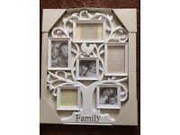 'Family' photo frame in the shape of a tree