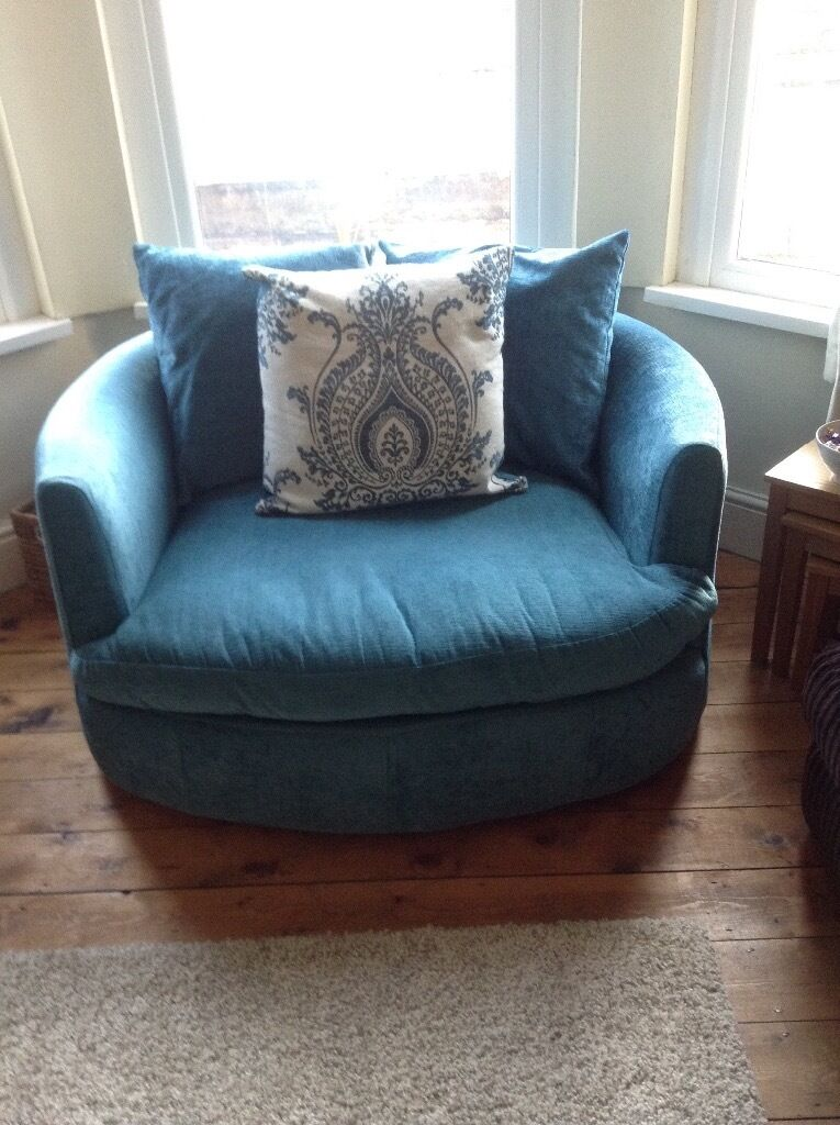 Lovely Teal Swivel Snuggle Seat In Canton Cardiff Gumtree