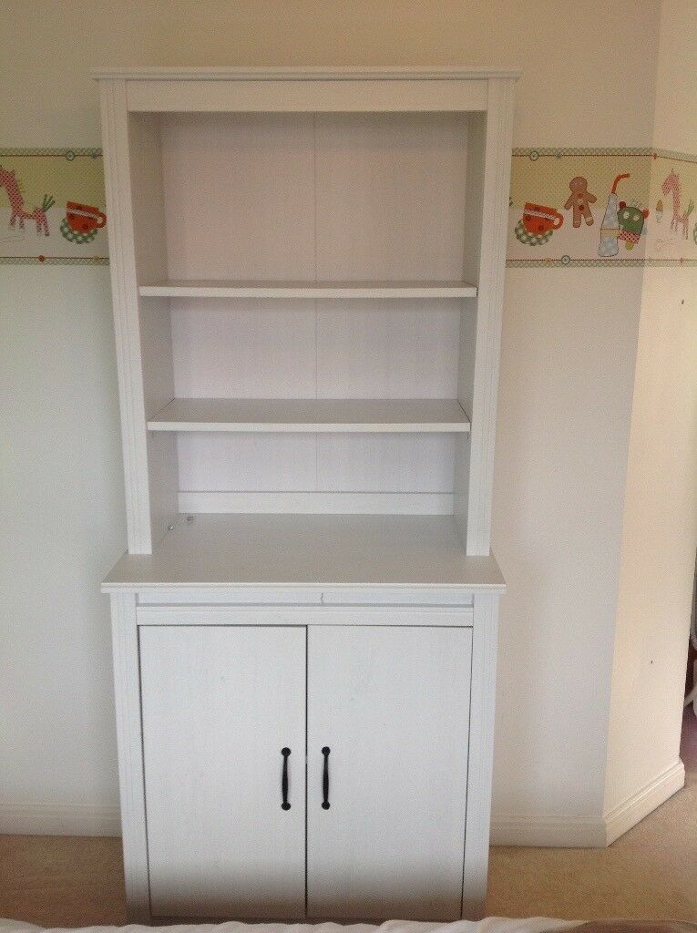 ikea brusali high cabinet with doors white in borrowash derbyshire gumtree. Black Bedroom Furniture Sets. Home Design Ideas