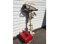 JOHNSON 5hp outboard motor and fuel tank