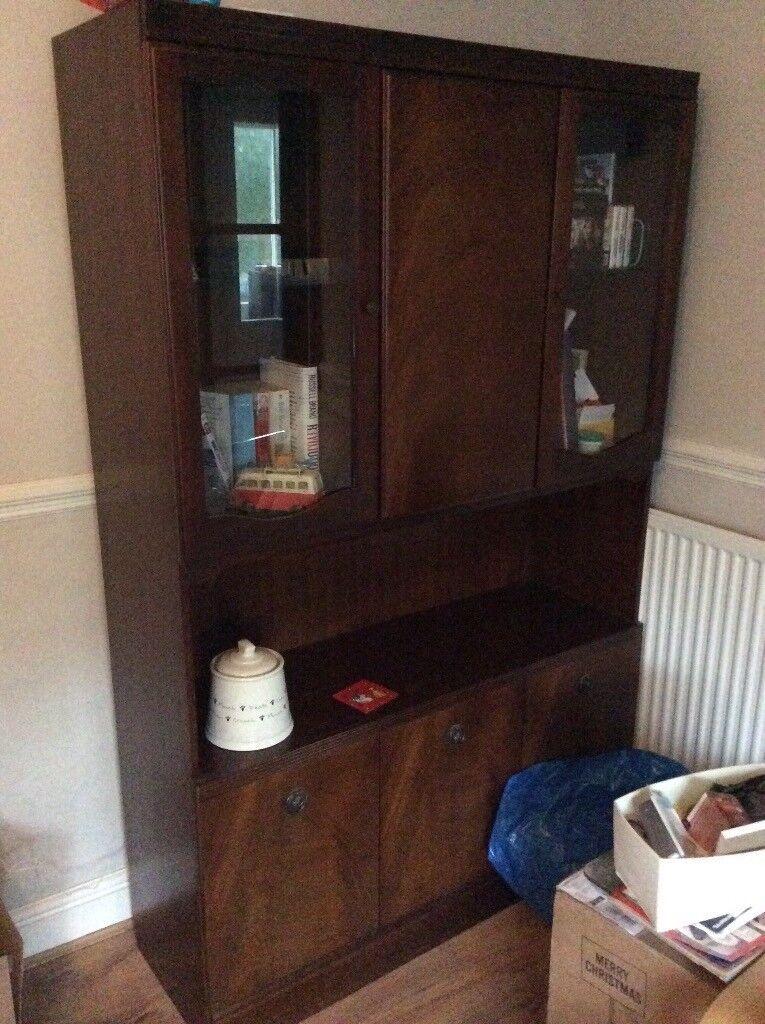 Mahogany cabinet/dresser and corner unit
