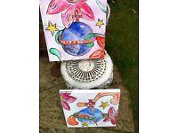 Handpainted Vivienne Westwood Orb artwork on canvas
