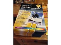 Photo paper - large amount unused, sealed A4/A6 photo paper for inkjets