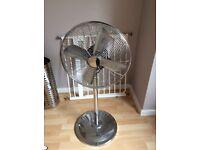 Floor standing Crome fan