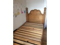 Single HANDMADE bed frame. Beautifully crafted. Cost £525 absolute bargain at £65.