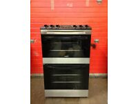 Zanussi gas cooker ZCG43330XA 55cm S/S FSD double oven 3 months warranty free local delivery!!!!!