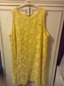 Yellow shift dress - size 22