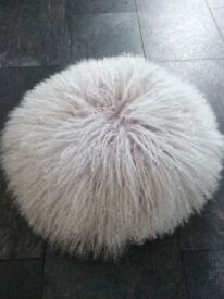 Cushions, two round lilac cushions , see photos for size , wool front , suede back £5 for the two...