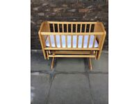 Mothercare wooden gliding crib