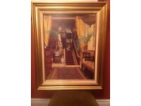 Gold Framed Picture Victorian Hallway